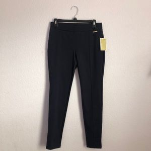 Michael Kors Navy Work Pants with Gold Detailing